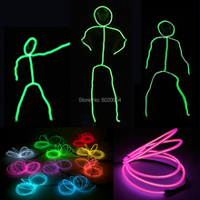 Popular EL Wire dance suit Light up performance costume Matchstick Men Led Costume Stage Show Costume Decoration цена 2017