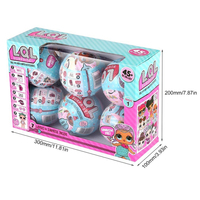 6Pcs Lot 9 5cm LOL Surprise Doll Series Magic Funny Unpacking Removable Egg Ball Action Figure