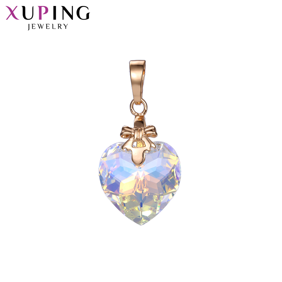 Xuping Jewelry Pendant Necklaces Heart Shaped Crystals from Swarovski Sweet Little Fresh Christmas Gifts S141.2-34072