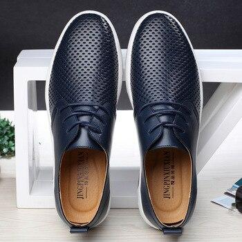 ผู้ชายหรูหรารองเท้าหนัง Lace Up Casual รองเท้า Breathable ชาย Chaussure Homme พลัสขนาด 37-47 Zapatos hombre