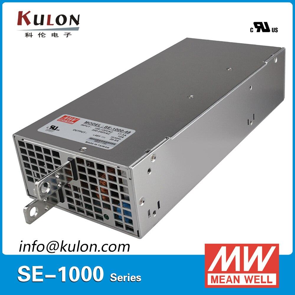 Original Mean Well 1000W 20.8A 48V Power Supply SE-1000-48 AC to DC 48V transformer switch mode Power Unit