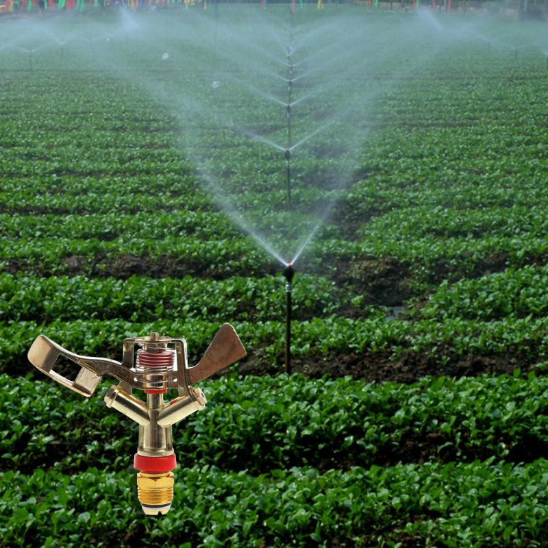 12 Zinc Alloy Rotary Water Sprinkler Nozzle Spray Lawn Garden Irrigation-P101