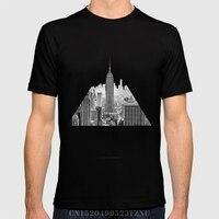 Lato Najlepszy mężczyźni t shirt New York City krótki O neck Wydrukuj Bawełniane śmieszne trójniki Odzież homme