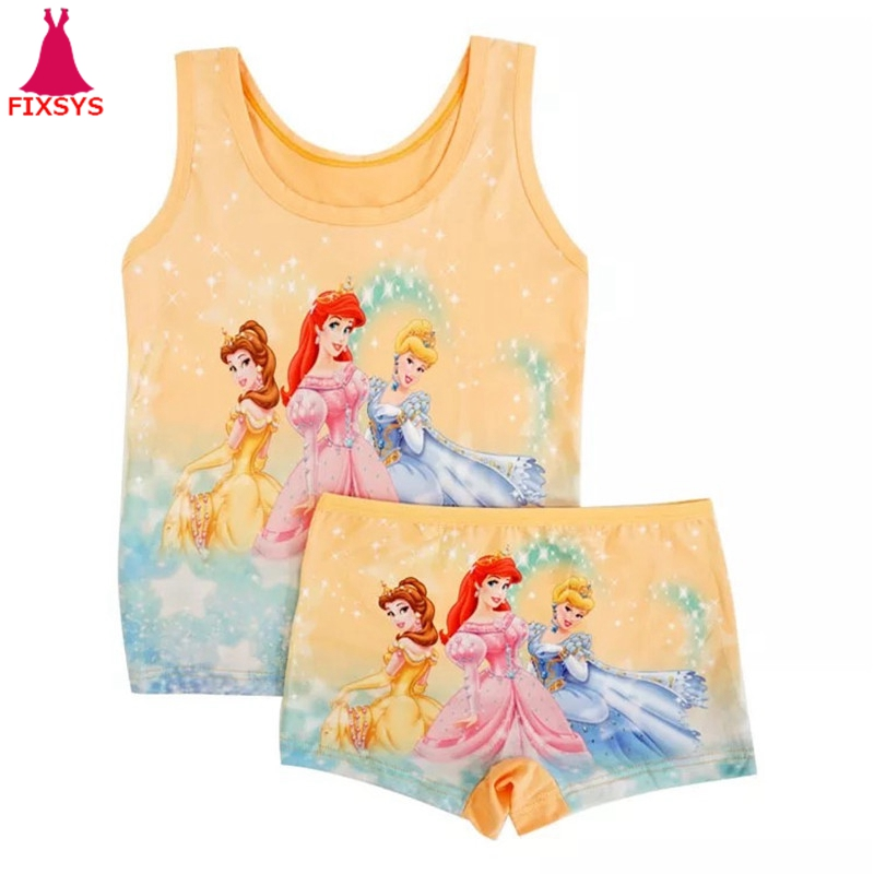 Pajamas-Sets Sleepwear Spiderman Elsa Girls Boys Kids Children Summer Vest Anna Casual title=