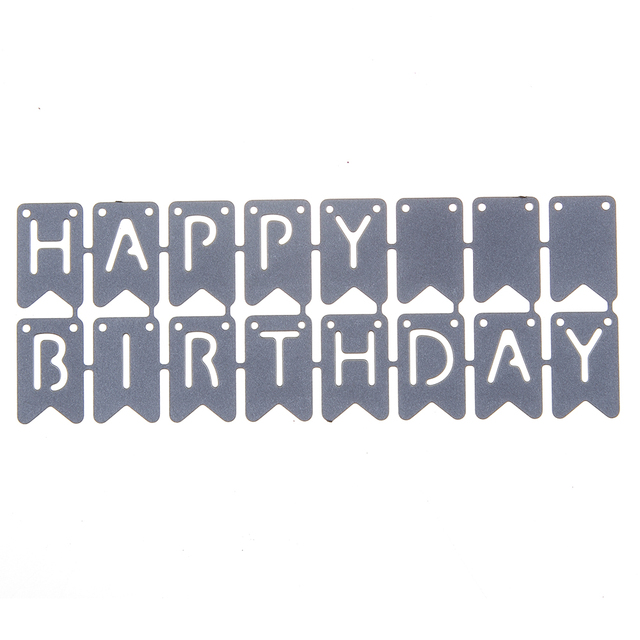 estel happy birthday letter frame metal cutting dies template diy scrapbooking embossing photo paper card decoration