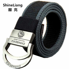 Hot Double ring Tactical belts for men Military Canvas body Width 3.8CM Thickness 4MM Length 110/140/160CM Designer High quality