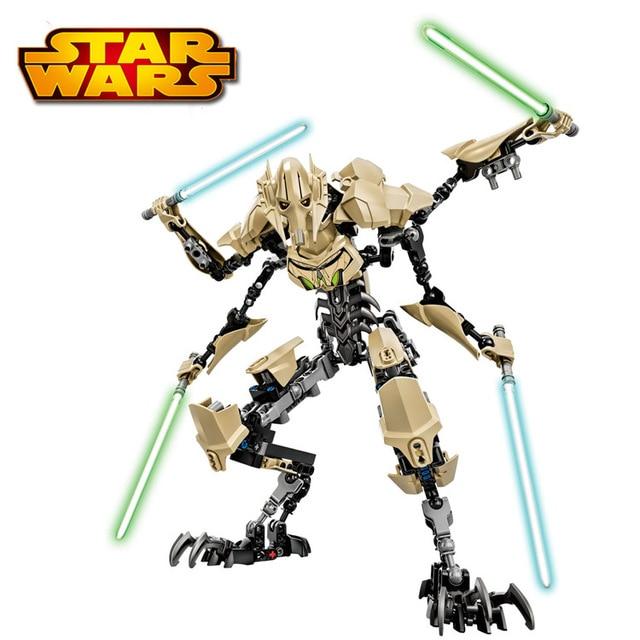 New Star Wars General Grievous con sable Storm Trooper w / gun juguetes figuras de bloques con caja de regalo para niños