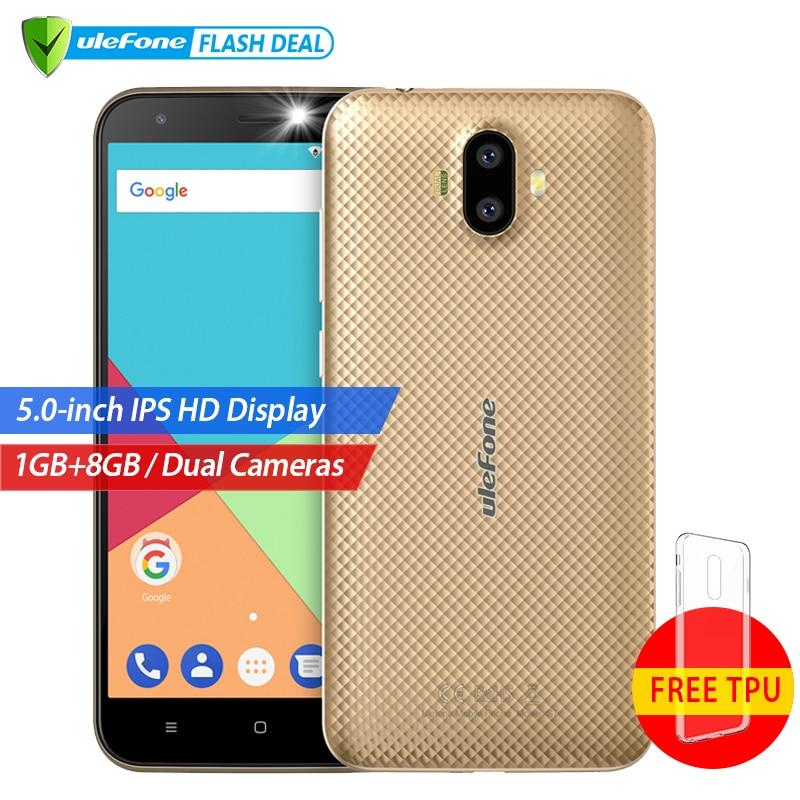 Ulefone S7 1 GB + 8 GB teléfono inteligente 5,0 pulgadas IPS HD pantalla Android 7,0 Cámara Dual 3G teléfono móvil