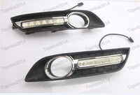 1Pair DRL LED Daytime Running Llights Fog Lights With Yellow Turn Signals For Nissan Sylphy 2013