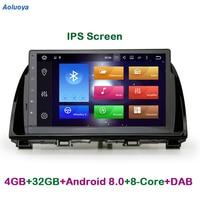 Aoluoya IPS RAM 4GB Octa Core Android 8.0 CAR DVD Player Radio GPS Navigation For MAZDA CX 5 CX5 2012 2013 2014 2015 WIFI DAB BT