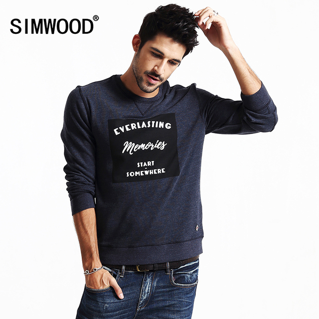 SIMWOOD New Autumn Winter Fashion Hoodies Men Casual Pullovers Sweatshirts  Brand Clothing WY8033