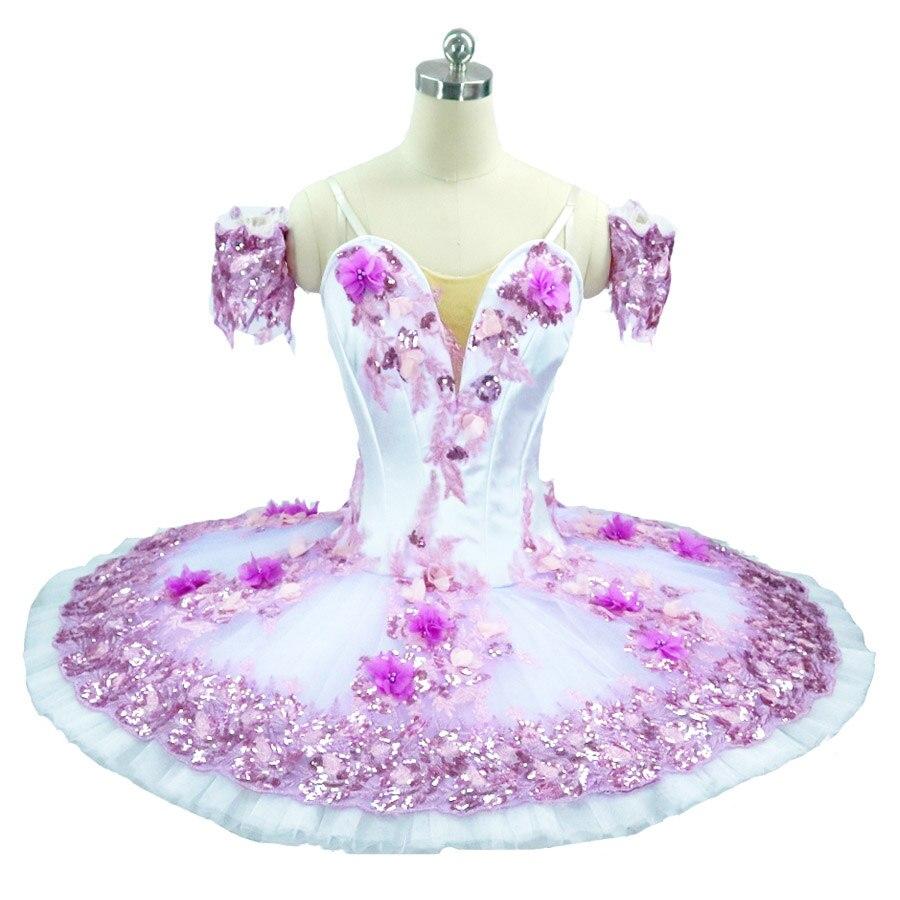Nutcracker Fairy Doll Professional Ballet Tutu Pink dress women Ballet Tutu skirt purple Sleeping Beauty Stage Costume For Girls