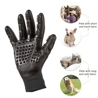 Pet Grooming Handschoenen Hond Kat Haar Schoonmaken Kam Bad Borstel Huisdier Massage Handschoenen Rubber Vijf Vingers 25*12 cm