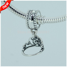 Fits Pandora Charms Bracelets Cinderella Tiara Beads Authentic 925 Sterling Silver Jewelry Free Shipping