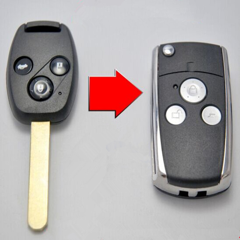 3 Button Remote Key Fob Case Shell Replace for HONDA Accord Civic CRV Pilot New