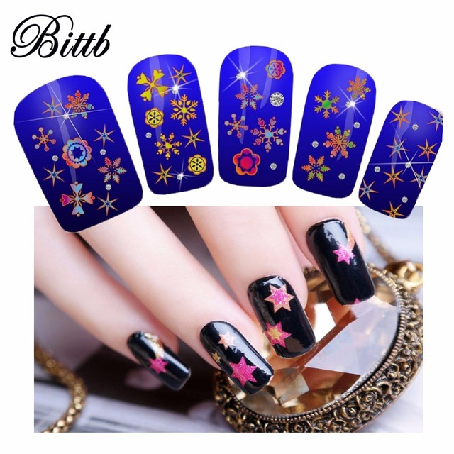 Bittb Nail Sticker Star Shining Luxury Glitter Tips Nails Art Design