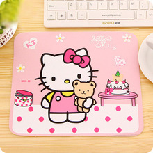 Hello Kitty Cute Laptop Computer Mouse Pad Mat Pink Black Color Wholesale Price