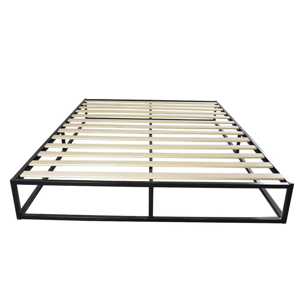High Quality Simple Basic Iron Bed Full Size Metal Platform Bed ...