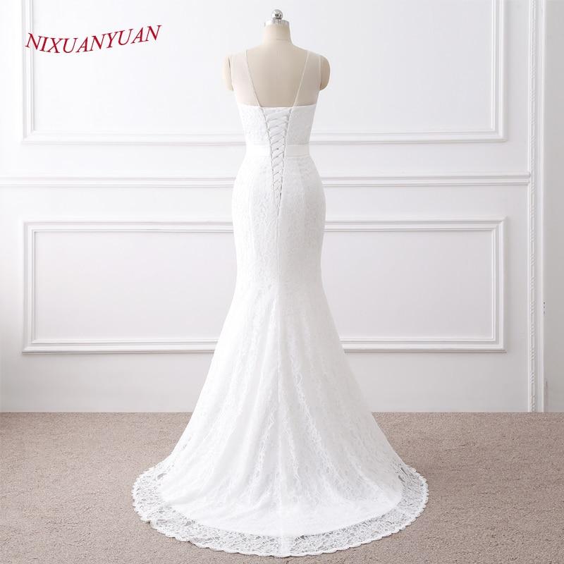 NIXUANYUAN 2018 Νέες Κομψές Εφαρμογές O - Γαμήλια φορέματα - Φωτογραφία 4