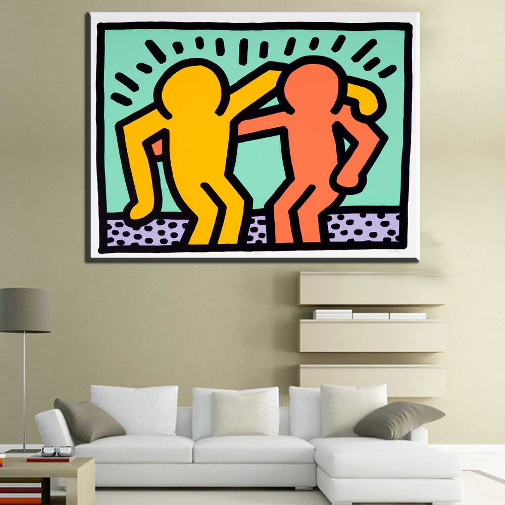 ZZ1444 modern canvas art keith haring canvas oil art painting canvas prints art for livingroom bedroom decoration unframed art