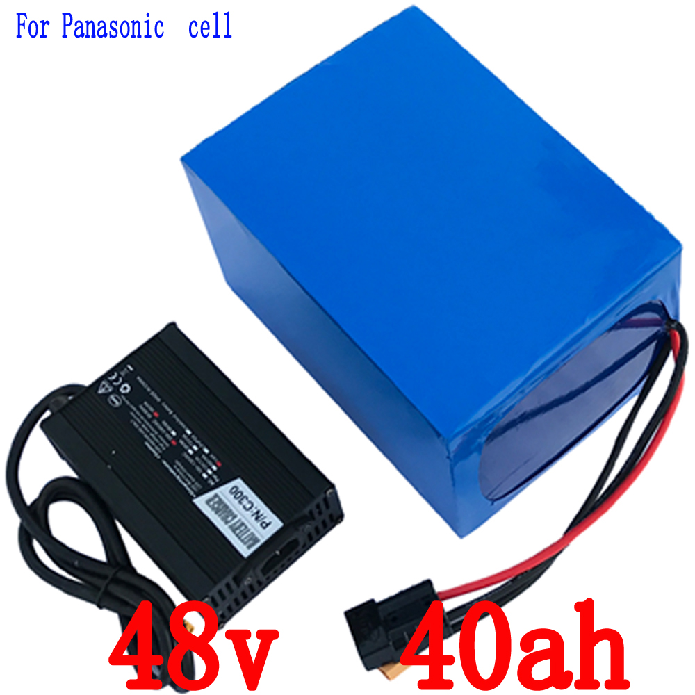 Free customs taxes 48V 40Ah use for Panasonic  Electric Bicycle lithium ion Battery 48v e-bike b free customs taxes customized power battery 51 8v 52v 50ah lithium battery pack for scooter motocycle e bike ups ev led lights