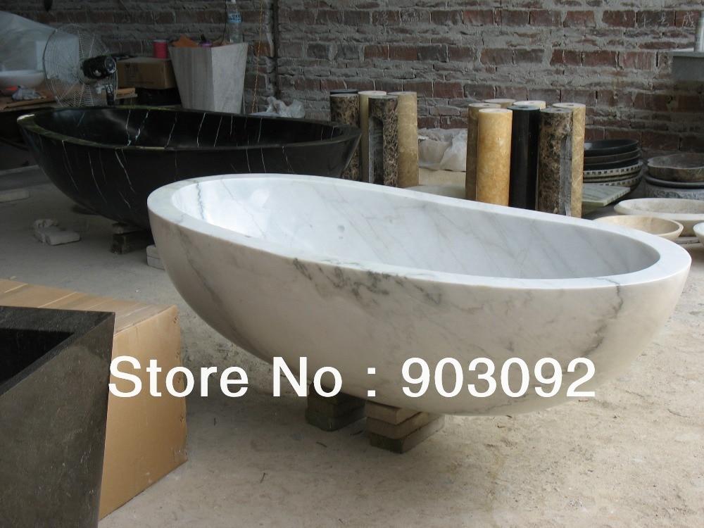 Luxury white carrara marble bathtubs high polished surface for Limestone bathtub