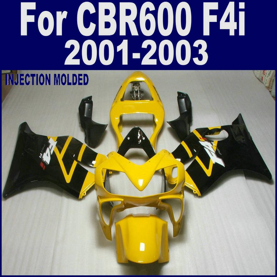 100% Injection molding for HONDA CBR 600 F4i black yellow   01 02 03 CBR600 F4i 2001 2002 2003 custom fairing CLFD 100% injection molding repsol for honda fairing parts cbr 600 f4i 01 02 03 cbr600 f4i 2001 2002 2003 body repair parts shjg