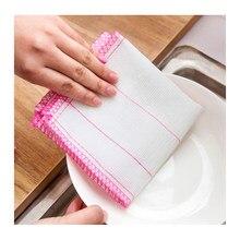 Lingettes de nettoyage de cuisine en fibre de coton, serviette absorbante sans huile, tampon à récurer