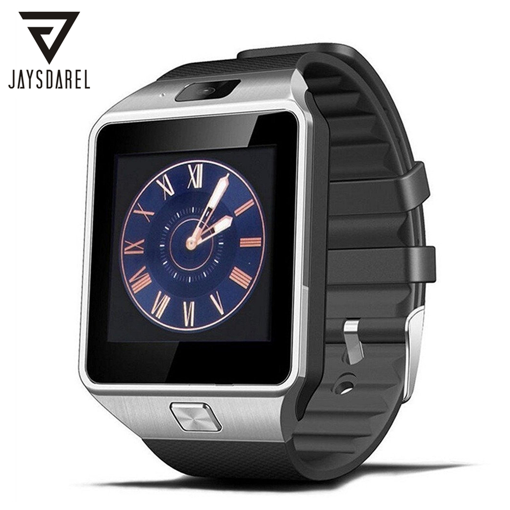 JAYSDAREL DZ09 Smart Watch For Android Smartphone Support TF SIM Card Wearable Devices Wrist Clock Smartwatch PK GV18 GT08 U8 jaysdarel m26 bluetooth smart watch for android ios sync phone call pedometer anti lost wrist smartwatch pk gt08 dz09 gv18 u8