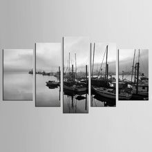 HD Print 5pcs canvas art sailing sea ship painting modern home decor wall art picture living room decor painting(China)