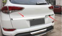 car styling case For Hyundai Tucson 2016 Car Stainless Steel Rear Trunk Lid Cover Trim /Tail Gate Protector Back Trunk Cover