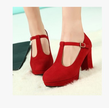 Aliexpress.com : Buy Vintage Korean High Heel Lady Pumps T Strap ...