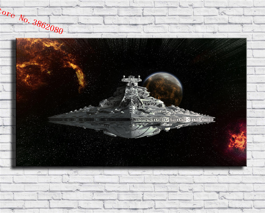 Star Wars Desktop Background Canvas Painting Print Living Room Home Decor Modern Wall Art Oil Painting Poster