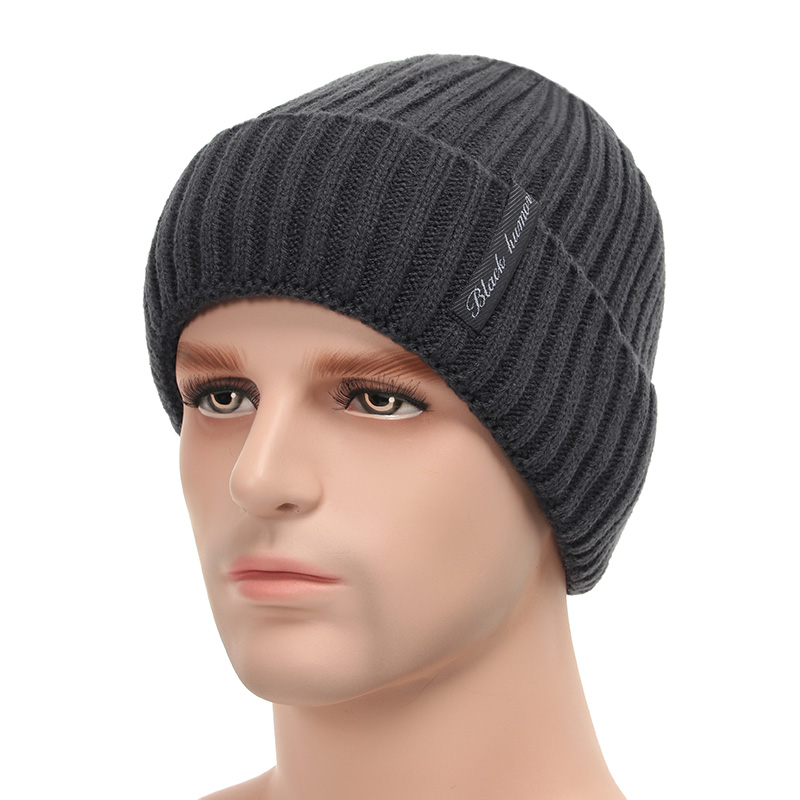 9c9cfd060cc Dropwow Fleece Lined Warm Beanie Hat Men Women Knitted Cap Winter ...