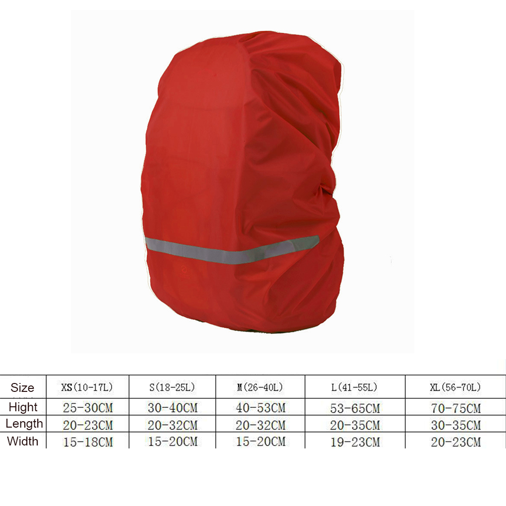 Image 5 - Reflective Light Waterproof Dustproof Backpack Rain Cover Portable Ultralight Shoulder Bag Protect Outdoor Tools-in Raincoats from Home & Garden
