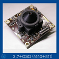 Free Shipping 1/3 Sony EFFIO-E 700TVL(4140+811) CCD Board 3.7 lensCamera With OSD  Menu