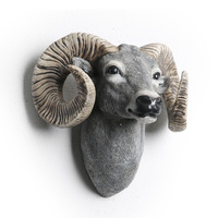 Sheep, Goat Wall decoration Hanging Wall Animal Head Resin Pendant Resin Wall Ornaments Home Accessories, Best Gift