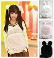 Kawaii Japan Wego Cute Bunny Ears Plush Backpack Female Rabbit Woolen Double Shoulder Bag For Japanese Teenager Girls Backpacks