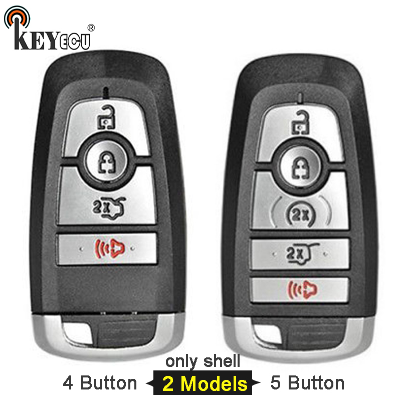 KEYECU for Ford Fusion Explorer Expedition Edge F150 F250 F350 Smart Car Key Shell Case Fob 4/ 5 Button FCC: M3N-A2C93142600