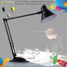LED DESK LAMP SQ-LD520 office table lamp student reading lamps fashion lights Free rotation Angle different Color 4000K Design