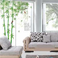 Свежая наклейка «бамбук» на стену для гостиной, украшение дома, задний план, ПВХ, плоское растение, Фреска, дверь, сделай сам, обои, распродаж...
