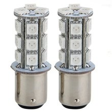 цена на 2x1157 SMD 5050 18 Red LED Flash Car Brake Tail Rear Signal Stop Light Lamp Bulb