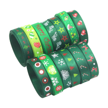 """5yards 3/8"""" 10mm Printing Grosgrain Ribbons Bows Christmas Party DIY Wrapping Handmade Decoration Materials 040048006(10)"""