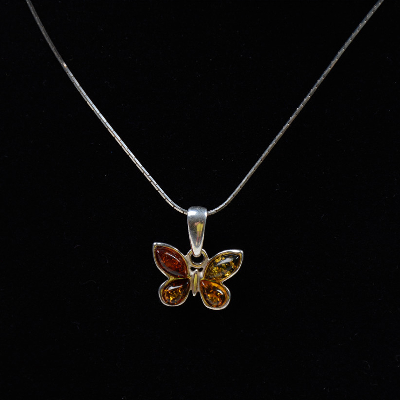 Vintage Bohemian Butterfly Shape Real 925 Sterling Silver Chain Jewelry Sweater Necklace With Pendant for Women Gifts спот favourite studio 1 х e14 25 1246 1w