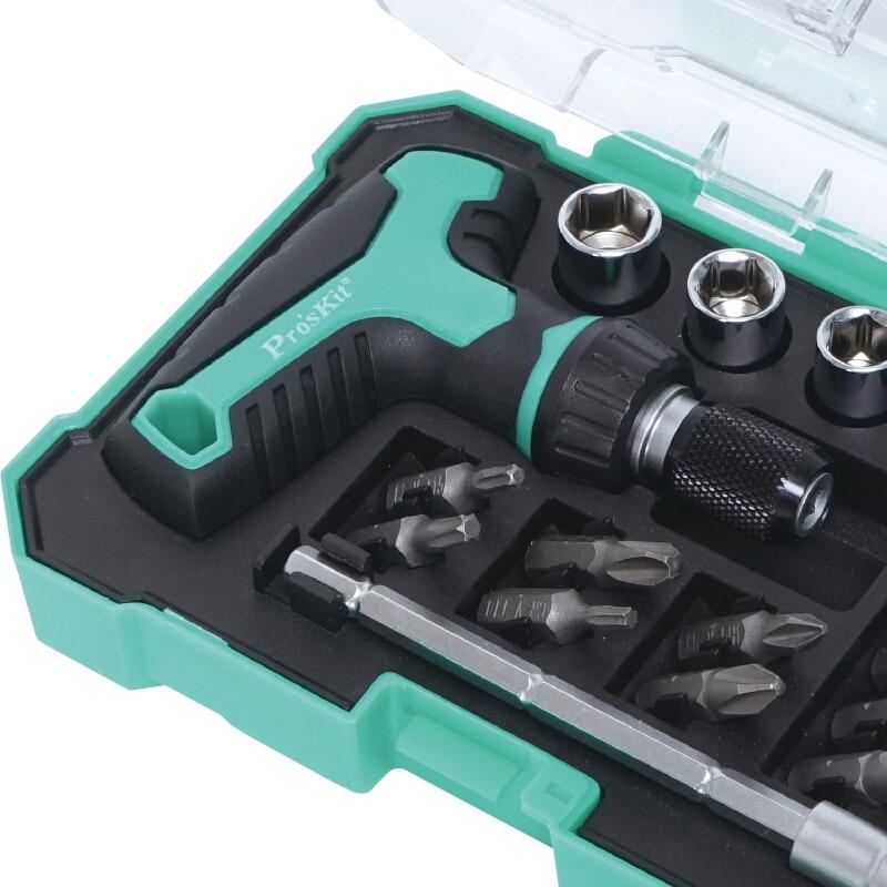 Proskit Új 18 az 1-ben Mini T-fogantyúval Ratchet készlet Mini - Kézi szerszámok - Fénykép 4