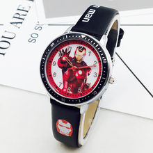 Marvel Hero Cartoon Watch Spiderman Students kids watches Le