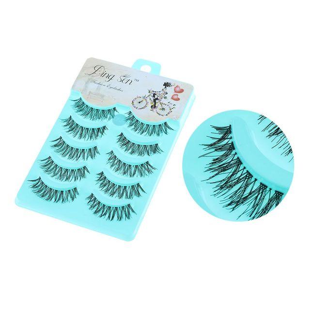 5 Pares/set Macia Esparsa Cruz Eye Makeup Lashes Extensão Natural Longos e Grossos Falso Cílios Postiços Feitos À Mão Ferramentas de Beleza