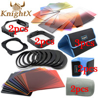 KnightX 24 Filter 9 Ring color 49mm 52mm 55mm 58mm 62mm 67mm 72mm 77mm series set For nikon canon cokin p d3200 d5200 nd lenses