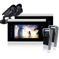 Homefong10''Color Display LCD Sistema de Telefone Video Da Porta Intercom Home Security Doorbell Night Vision Câmera de Vídeo de Alta Definição