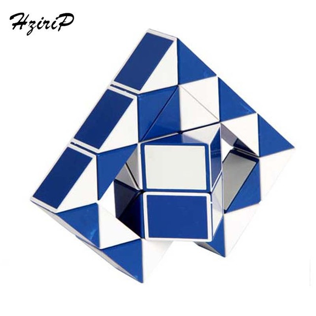 HziriP New Ruler Magic Cube Puzzle Random Color Magic Snake Shape Game 36 Segment Irregular Toys For Children Gift Free Shipping